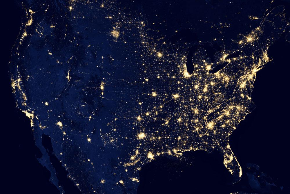 Communication is Key - United States at Night