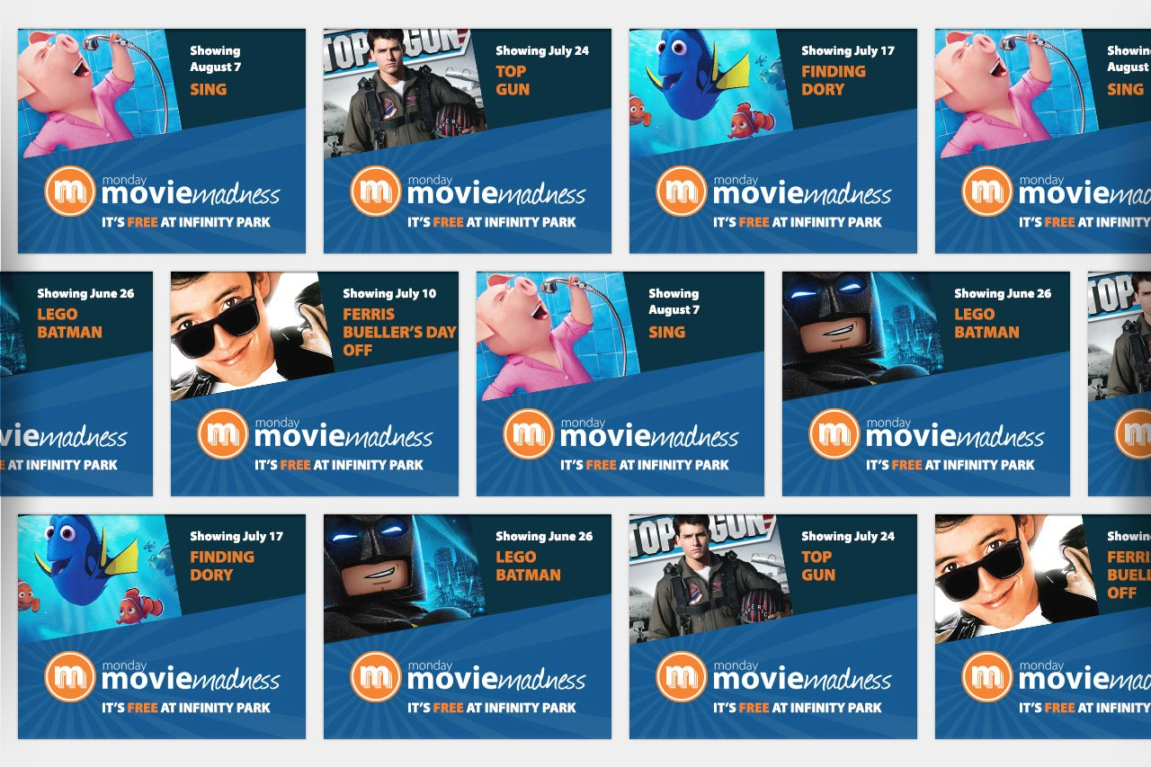 Monday Movie Madness Digital Ads