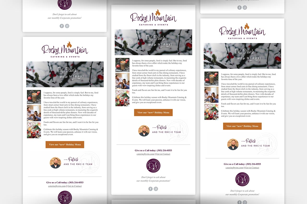 Rocky Mountain Catering - Email Marketing