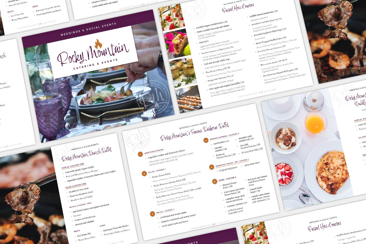 Rocky Mountain Catering - Wedding Menu