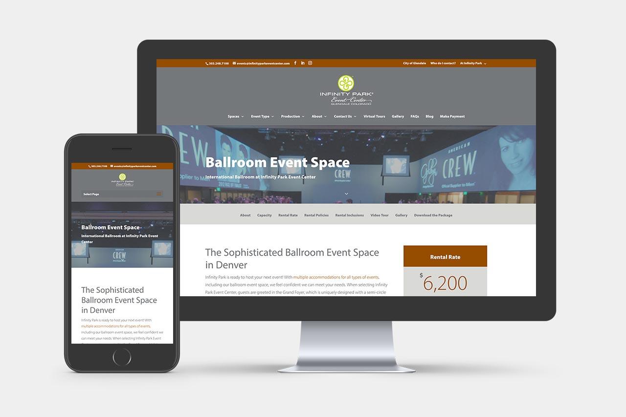Infinity Park Event Center Website